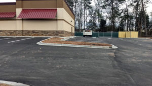 Parking Log Curbs
